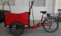 CE 6 speeds bakfiets cargo bike front loading three wheel electric tricycle in China