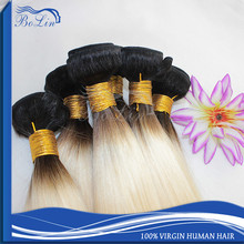 Wholesale 7A Grade Peruvian Virgin Human Hair Straight 1B 613 Blonde Ombre Hair Weaves Bundles Fast Shipping