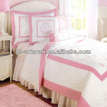 Applique Pink Dancing Shoes Wholesale Comforter Sets Bedding HLK025