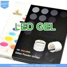 Hot 36 Color Glitter Powder GDCOCO Soak off UV/LED Gel System, Nail Art LED Gel Laquer Kit,China CANNI Factory #3689B-01X
