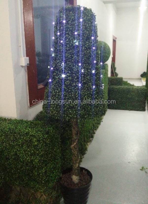 lsws15112548 üretici özelleştirmek bahçe dekor ışık led yapay plastik şimşir kule şeklinde topiary ağacı