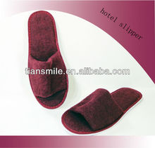 red coral fleece customized slippers for hotel