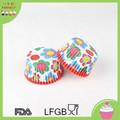 Pasteles tazas de papel para hornear, botón impreso tazas de la hornada, forma redonda taza de bicarbonato