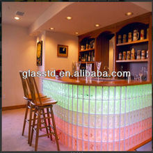 Hollow glass block for bars