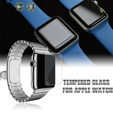 2015 New Arrival! 0.2mm Ultra Thin 9H Premium Anti Scratch Tempered Glass Screen Protector for Apple Watch 38mm/42mm