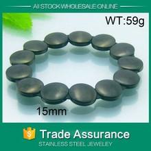 mens black pearl bead shamballa bracelet