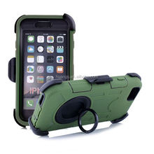 Top selling slim armor TPU+PC lord of rings case for iphone 6 with ring stand