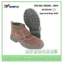 China Factory Good Quality Price Brand Safety Shoes, Anti-Smashing Steel Toe Safety Shoes, WoodLand Safety Shoes SF615-1