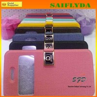 NEW arrival window preview leather case for iphone 5c leather case factory price