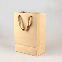 Wholesale Recycled Flate Brown Paper Bag