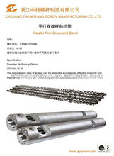 abs granules parallel twin screw cylinder for extruder machine