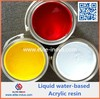 For the printing on packaging of dry food liquid water-based acrylic resin