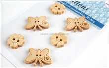 laser cut mini natural wooden buttons for kids