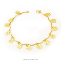 Warehouse low price high quality 24K gold plated bracelet for sale