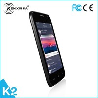 high quality android Kenxinda K2 MTK6572 dual core mobile phone with 1300mAh battery mobile phone