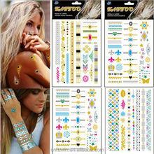 Metallic Gold Silver Black Jewelry Inspired Temporary Custom metal stickers