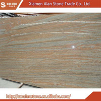 Latest Style High Quality raw silk ivory granite slabs