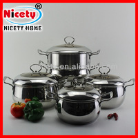 Hot selling chinese stainless steel cookware sets / cooking pot