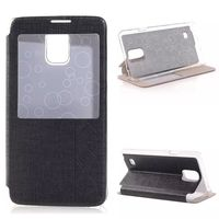 Cell Phone Cases for Cheap Smart Cover Leather Case for Samsung Galaxy Note 4
