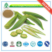 Hot Sale GMP Certificate 100% Pure Natural Okra extract powder