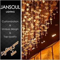 chinese style crystal pendant light decorative lighting fittings for living room