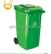 Jinbao high quality mobile 120L trash can with lid
