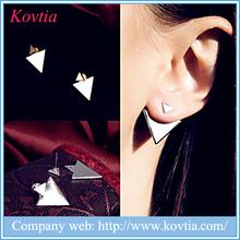 Plot asymétrique boucle d'oreille triangle boucle d'oreille nouvelle arrivée mode steampunk bijoux
