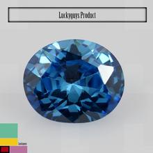 Oval shape bright 6*8mm aqua blue colored synthetic diamonds cz