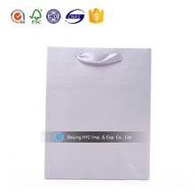 2015 China factory OEM paper bag for packaging white kraft paper bag