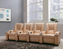 foshan home theater recliner sofa with red color cow leather