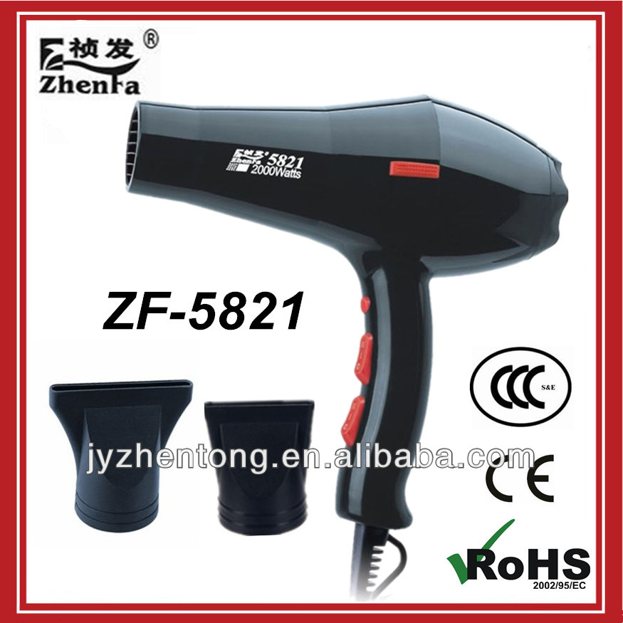 2000w professional hair dryer ac motor hair blower zf 5821 for Ac motor hair dryer