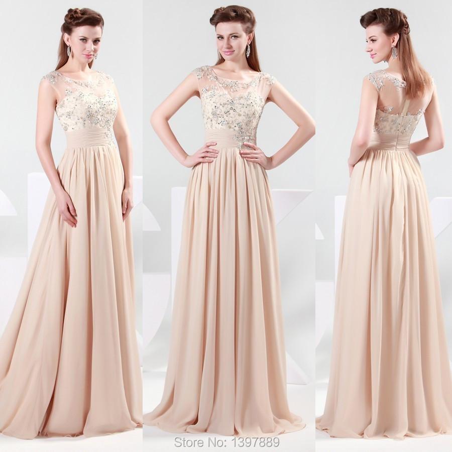 Платье бежевого цвета фото