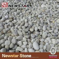 Natural white polished pebbles