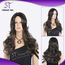 High quality elegant synthetic fiber wigs,wigs hongkong