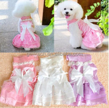 Dog Skirt Pet Wedding Dress Clothes Puppy Formal Gown Clothes Suit Set Princess