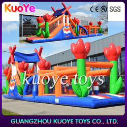 inflatable obstacle courses,flower inflatable obstacle,funworld inflatables