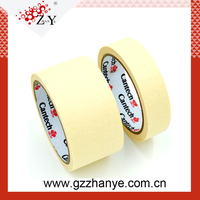 140-180 mic Crepe Paper Rubber Adhesive Masking Tape For Car Paint