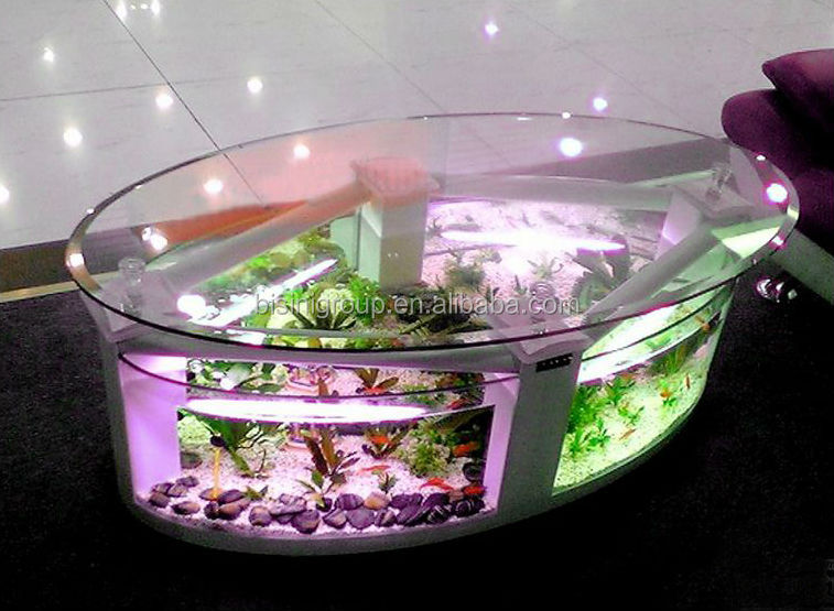 Modern style acrylic rectagle coffee table aquarium fish - Fabriquer table basse aquarium ...