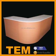OEM Rounded Imitation Wooden Cashier Counter for Restaurant