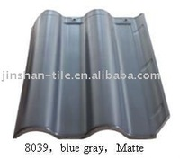 Blue grey 400x300mm ceramic glazed roof tile