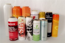 aluminum empty aerosol packaging can