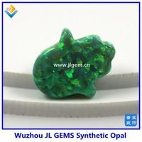 (100pcs) Free Shipping Synthetic 8*10mm Green Kiwi Color Hand/Hamsa Opals Stones For Dress