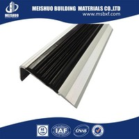 Low price High Load pvc inserts aluminum non slip stair treads rubber for stair safety