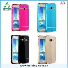 For Samsung Galaxy A3 Aluminum metal bumper back cover case