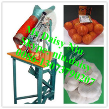 manual Ginger mesh bag packing machine/tomato mesh bag packing machine/mesh bag packing machine
