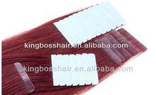 Beautiful grade aaaa 100% european hair 100% european hair tape hair extension