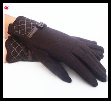 Lady's high quality popular palm gloves decorated with bow