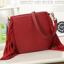 E896 china wholesale lady winter new suede tassel hobo korean designer bags
