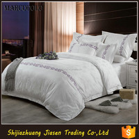 2015 new products are stock lot hand embroidered bed sheet in guangzhou