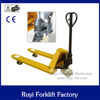 CE marked hydraulic hand pallet truck rubber wheel